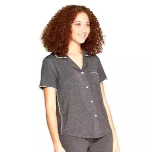 Soft Notch Collar Pajama Top ONLY